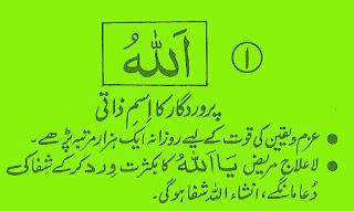 Personal name of Allah Ta'ala