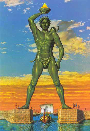 The Colossus of Rhodes- دیوتا روڈس کا مجسمہ