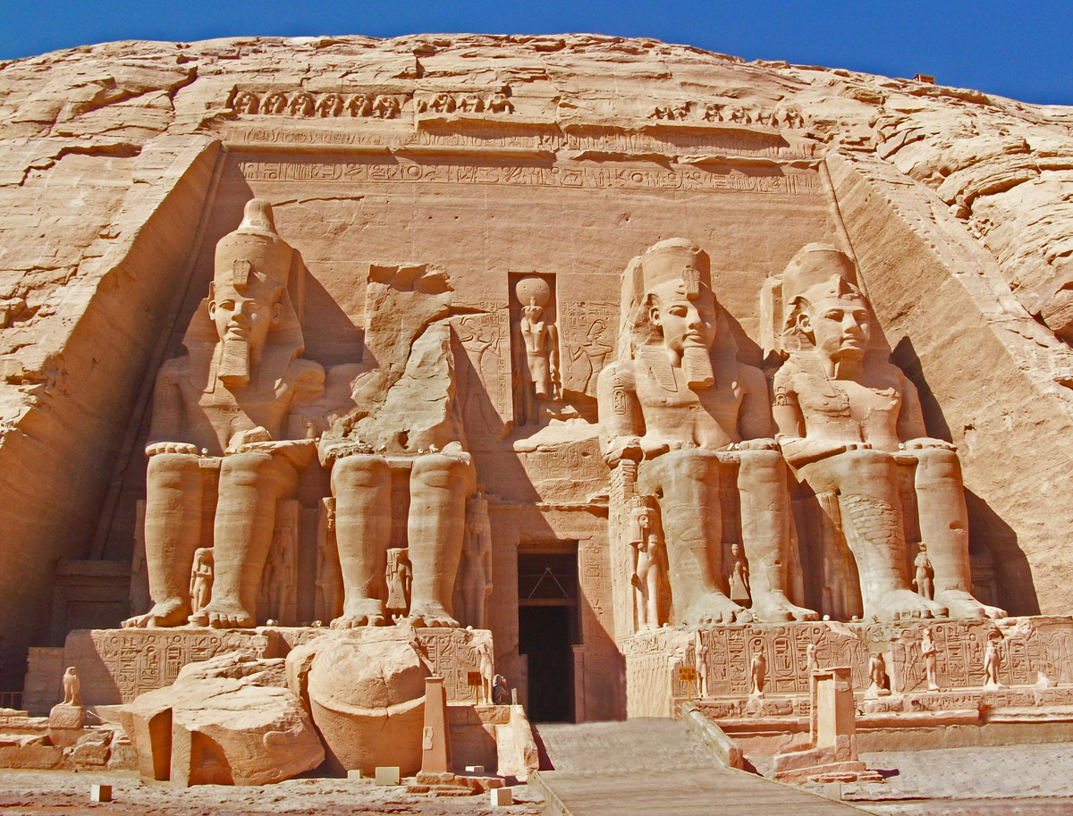Abu Simbel Temple in ancient Nubia
