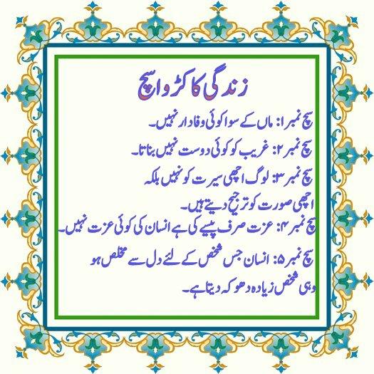 5 Bitter Truth of Life in Urdu