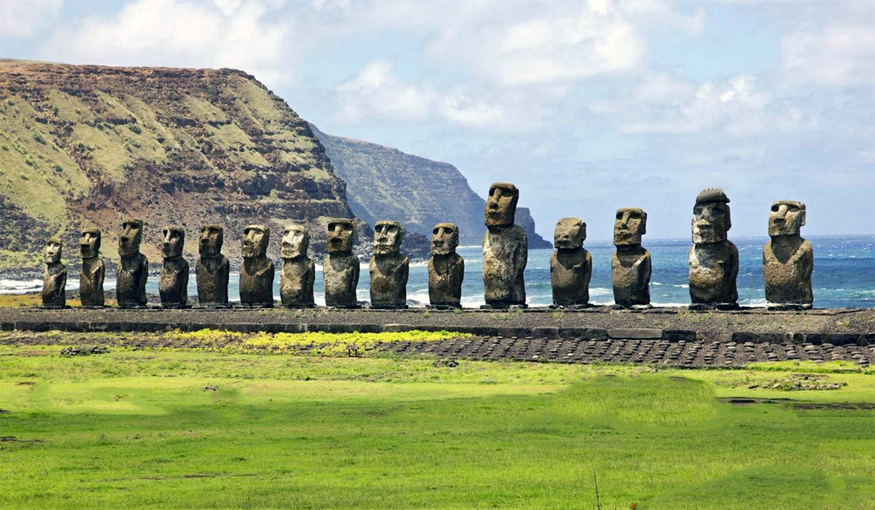 The Stone Heads of Easter Island