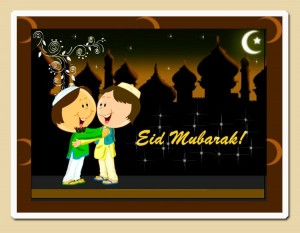 Eid Mubarak Cards 2013 for Kids