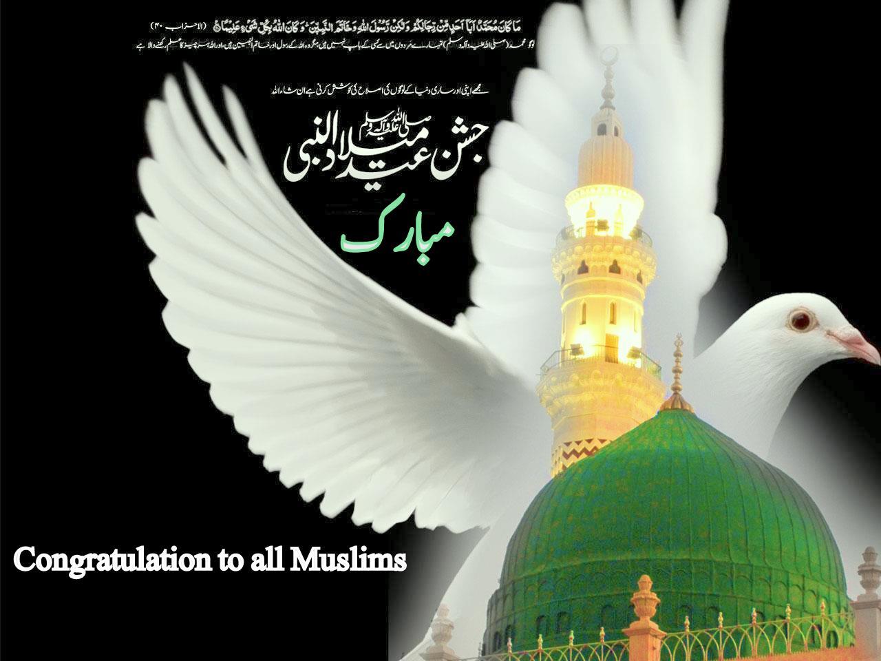 Eid Milad Un Nabi Saw Mubarak Cards And Banners Hd Quality